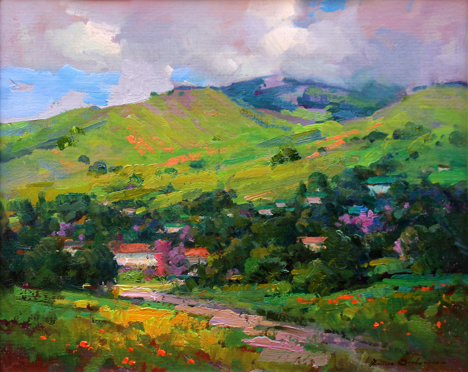 "'Spring Afternoon"" Original Oil  16x20 by Ovanes Berberian"
