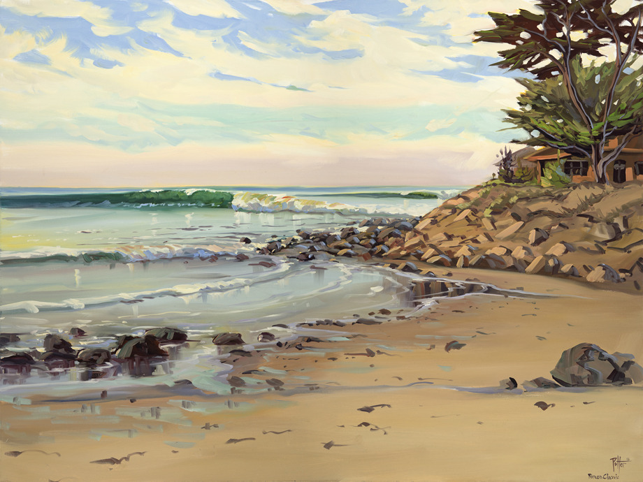 Rincon Classic, Chris Potter, oil on canvas